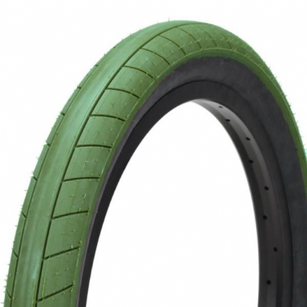 Cult Dehart Slick Tyre - Olive Green With Black Sidewall 2.40""